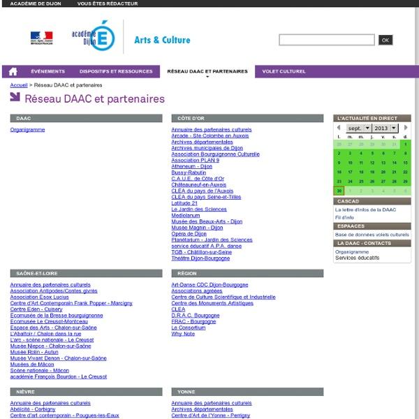 RUB. SITE Ac. Dijon : Réseau DAAC et partenaires