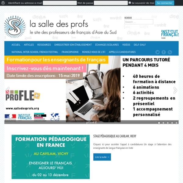 Le réseau social des professeurs de français d'Asie du Sud