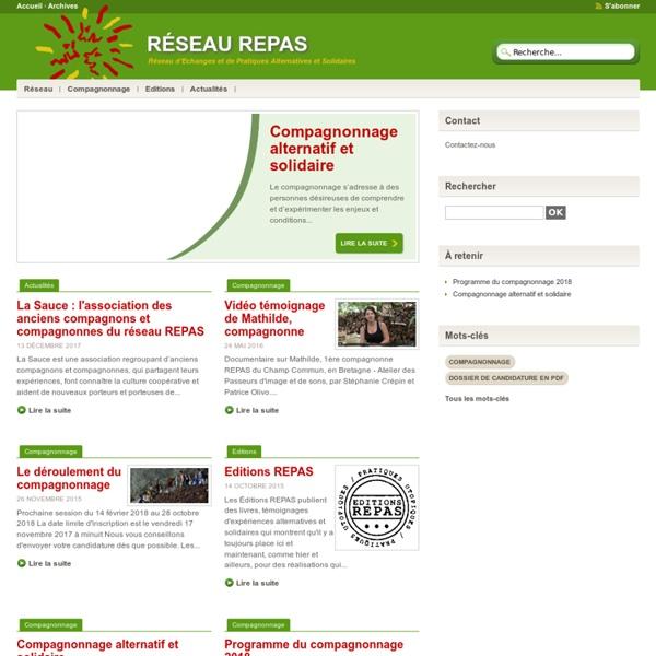 Réseau REPAS - Réseau d'Échanges et de Pratiques Alternatives et Solidaires