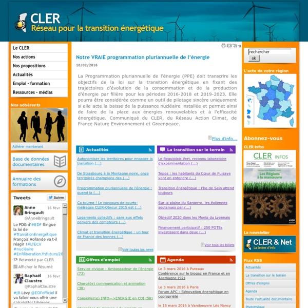 CLER - Réseau pour la transition énergétique.