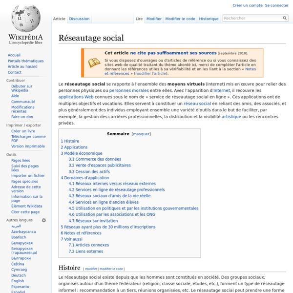 Réseautage social