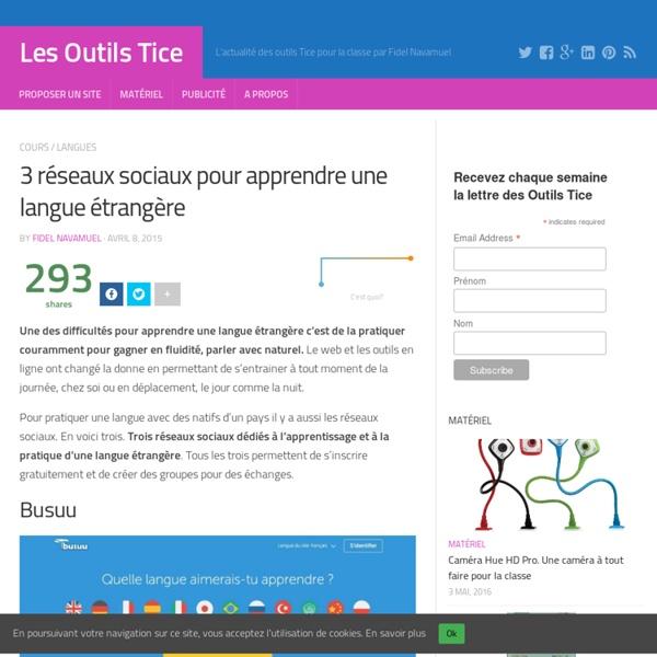 3 réseaux sociaux pour apprendre une langue étrangère