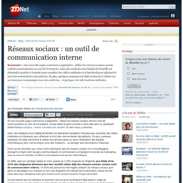 Réseaux sociaux : un outil de communication interne