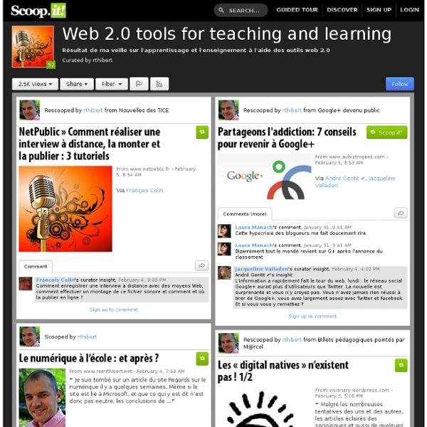 SCOOP.IT : Réseaux sociaux, web 2.0 et éducation