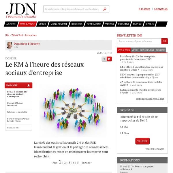 Le KM à l'heure des réseaux sociaux d'entreprise