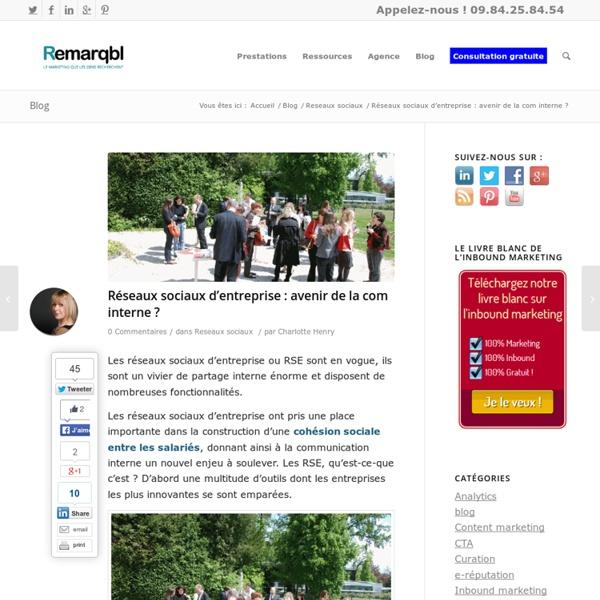 Réseaux sociaux d'entreprise : avenir de la com interne ?