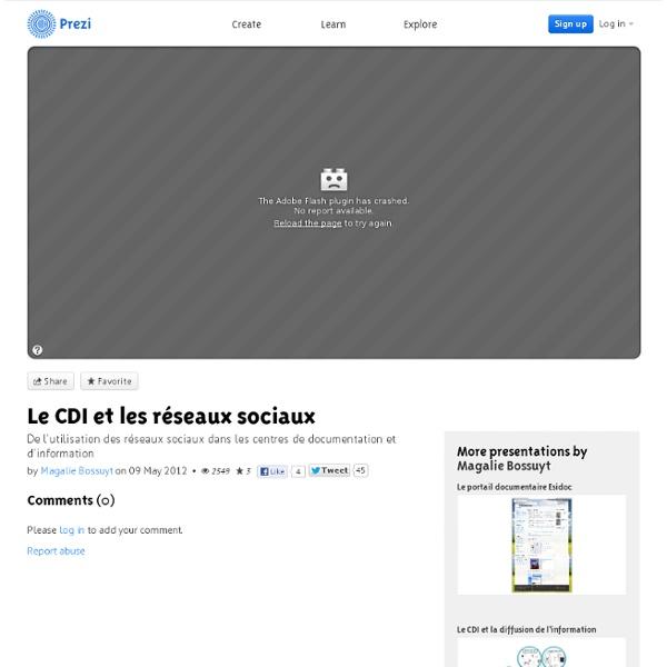 Le CDI et les réseaux sociaux by Magalie Bossuyt on Prezi
