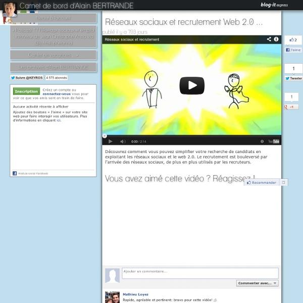 Réseaux sociaux et recrutement Web 2.0...