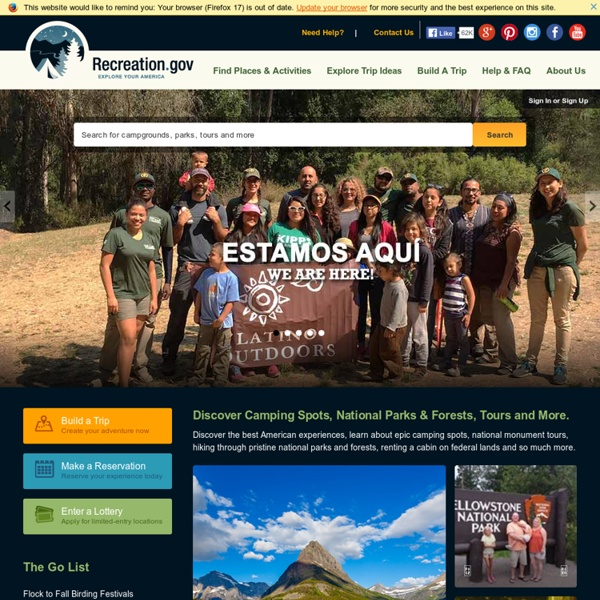 Federal recreation, camping and tour reservation information - Recreation.gov