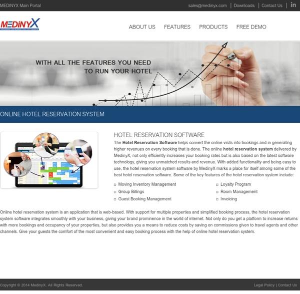 Best Hotel Reservation Software, Online Hotel Reservation System Software - Medinyx