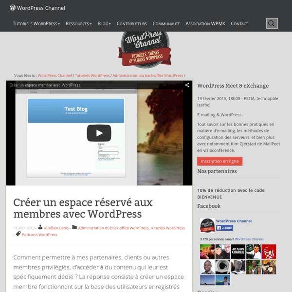 Créer un espace réservé aux membres avec WordPress