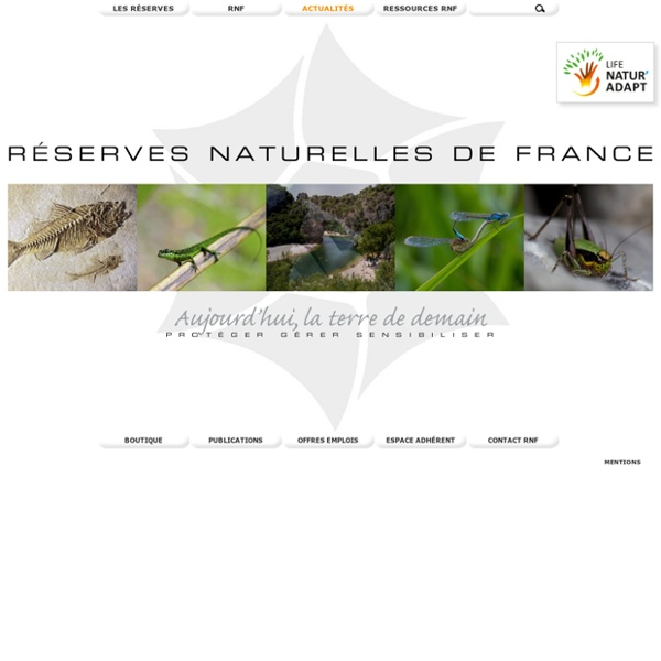 RNF : Réserves Naturelles de France