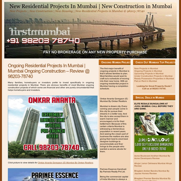 Ongoing Residential Project In Mumbai