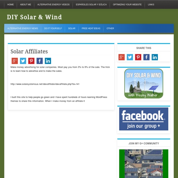 DIY Residential Solar Power | Pearltrees