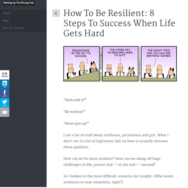 How To Be Resilient: 8 Steps To Success When Life Gets Hard
