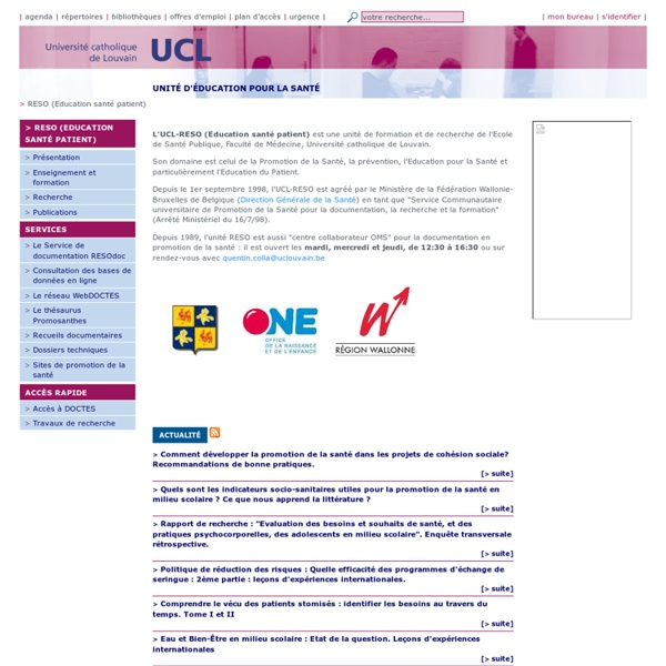 Alain DECCACHE-Louvain- UCL - RESO (Education santé patient)
