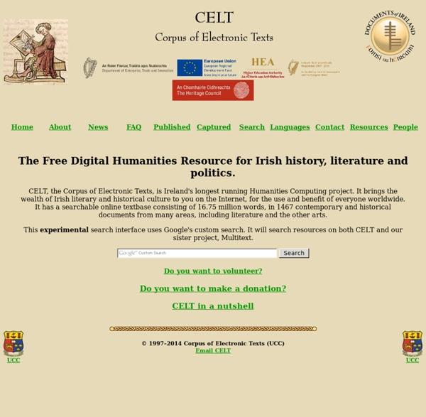 CELT: The online resource for Irish history, literature and politics