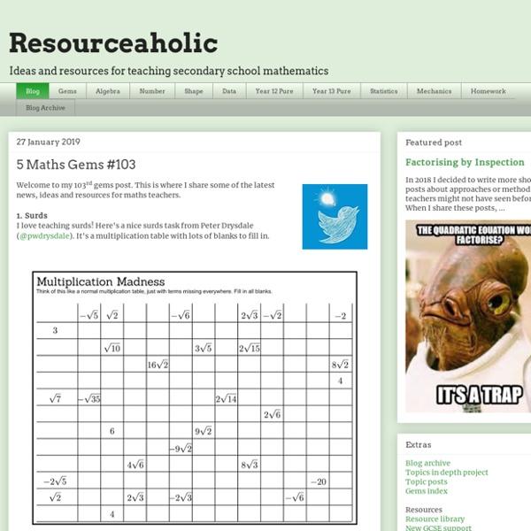 Maths Teaching Resources