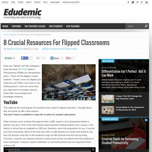 8 Crucial Resources For Flipped Classrooms