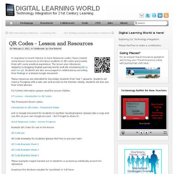 QR Codes – Lesson and Resources