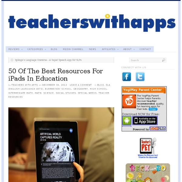 50 Of The Best Resources For iPads In Education