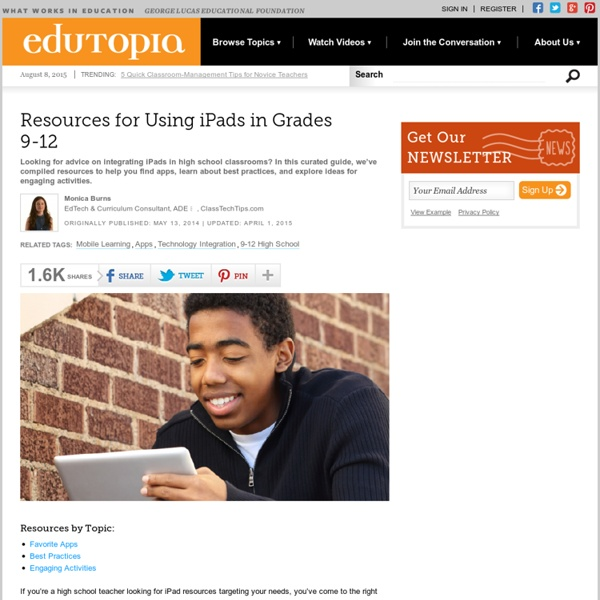 Resources for Using iPads in Grades 9-12
