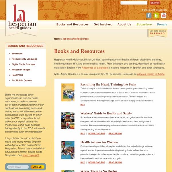 Hesperian Health Guides