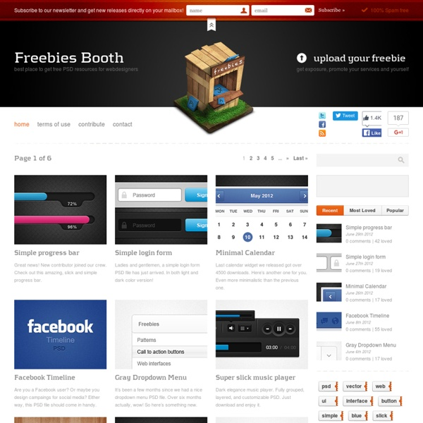 Free Web Design Resources Layered Psd Files On Freebies Booth Pearltrees