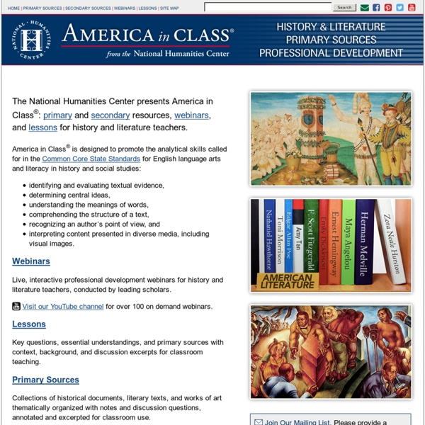 Primary sources for history & literature teachers