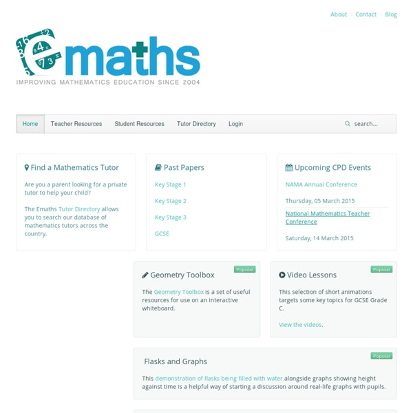 Emaths - Free Resources for Mathematics Teachers and Students
