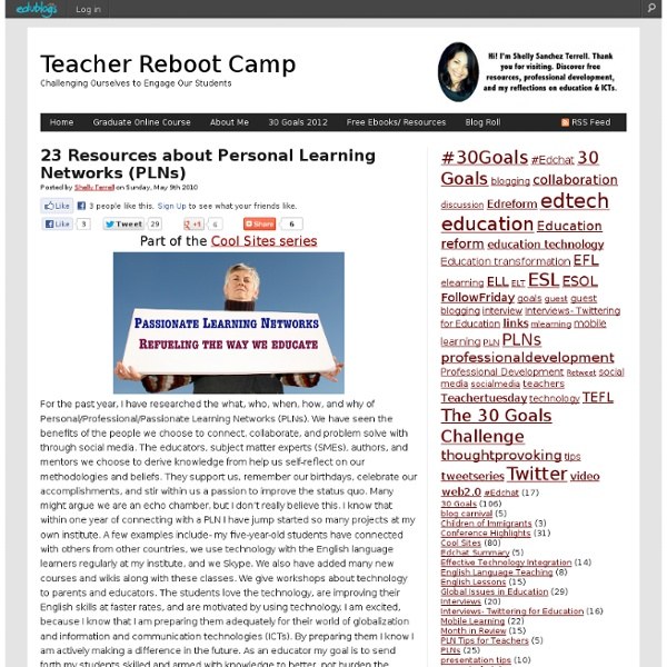 23 Resources about Personal Learning Networks (PLNs)