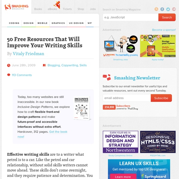 50 Free Resources That Will Improve Your Writing Skills - Smashing Magazine