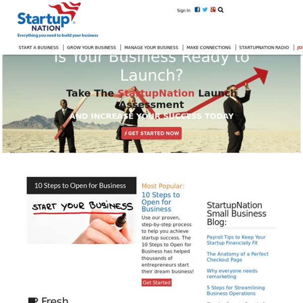 StartupNation Home » StartupNation
