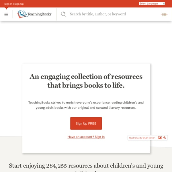 Author & Book Resources to Support Reading Education