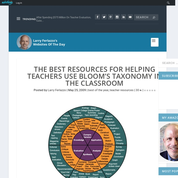 The Best Resources For Helping Teachers Use Bloom's Taxonomy In The Classroom
