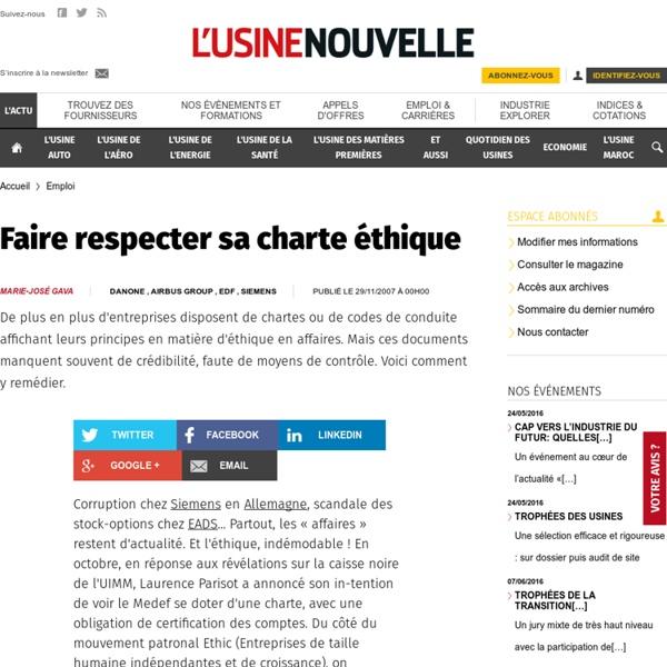 Faire respecter sa charte éthique