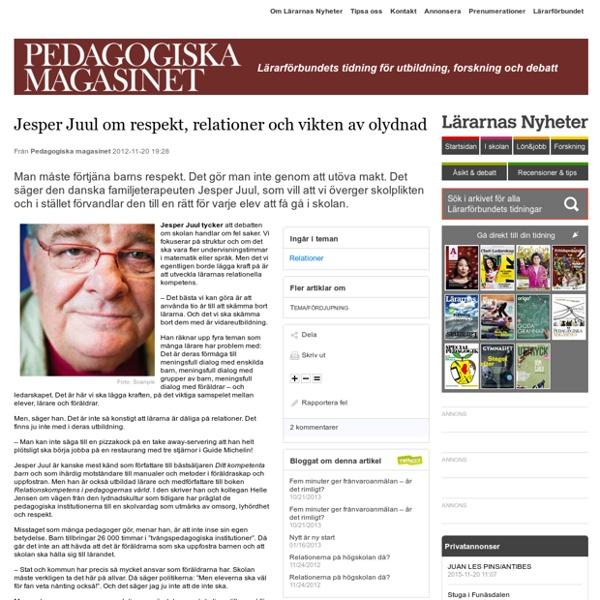 Jesper Juul om respekt, relationer och vikten av olydnad