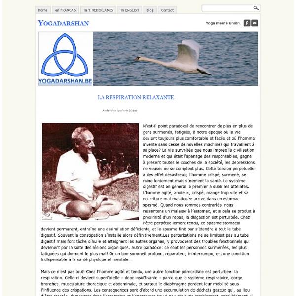 La respiration relaxante - Yogadarshan