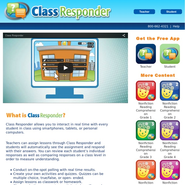 Class Responder : Real Time Student Reponse System