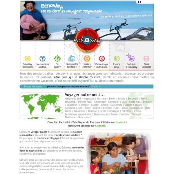 ECHOWAY- voyage solidaire, écologique éthique, équitable, responsable ____ Les lieux alternatifs du tourisme solidaire