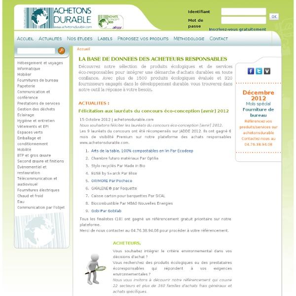 Achetonsdurable.com - Achetonsdurable.com