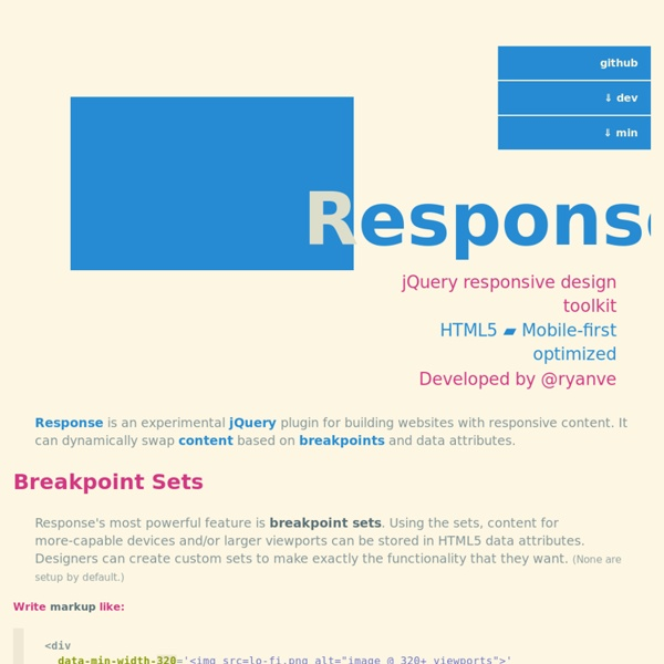 Response JS: mobile-first responsive design in HTML5.