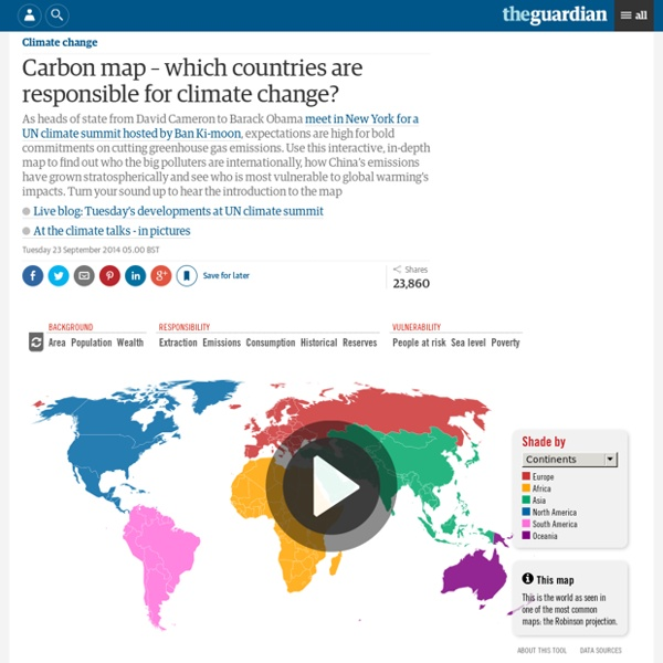 Carbon map –which countries are responsible for climate change?