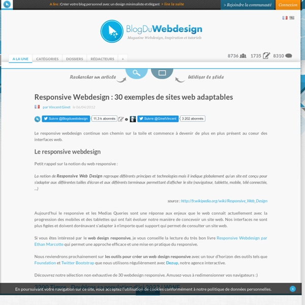 Responsive Webdesign : 30 exemples de sites web adaptables