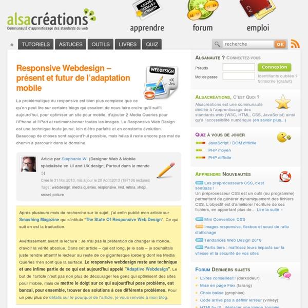 Responsive Webdesign – présent et futur de l'adaptation mobile