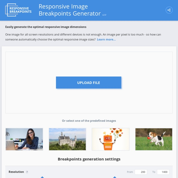 Responsive Image Breakpoints Generator by Cloudinary
