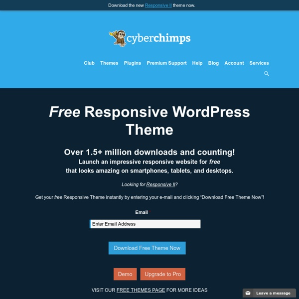 Free Responsive Themes for WordPress
