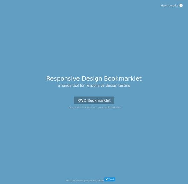 Responsive Design Bookmarklet - Responsive test