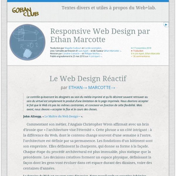 Goban Club – Responsive Web Design par Ethan Marcotte: une traduction française
