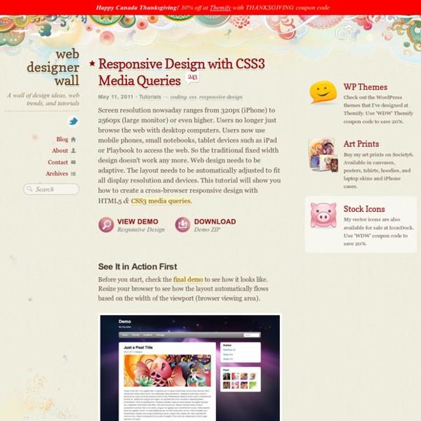 Responsive Design with CSS3 Media Queries